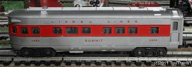 Lionel Postwar Short Streamlined Passenger Cars