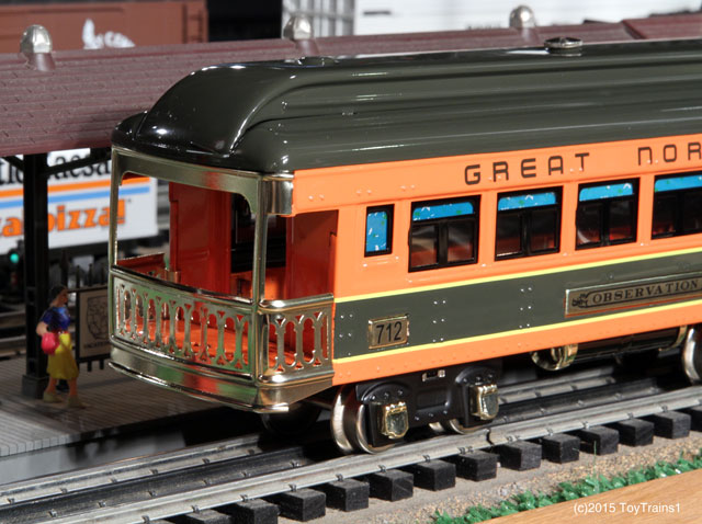 Lionel 712 tinplate observation car